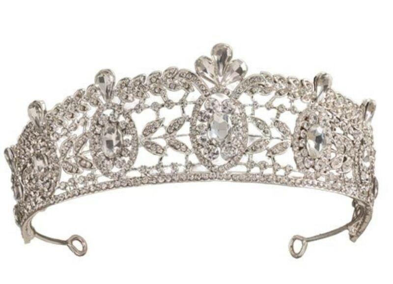 Victorian Trading Co Crystal Rhinestone Filigree Empress Tiara Crown
