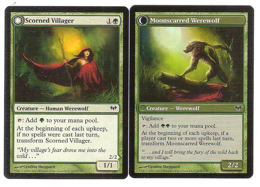 LP mtg 4 Scorned Villager 4x x4 Dark Ascension
