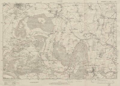 OLD ORDNANCE SURVEY MAP PETERBOROUGH EAST FLAG FEN 1924 DICKENS STREET FENGATE
