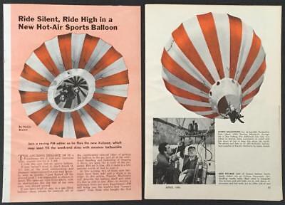 Vulcoon Hot Air Sports Balloon original 1963 Test Flight report