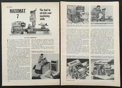 Maximat 7 1968 Test Report Edelstaal Metal Lathe Milling Machine Drill Press