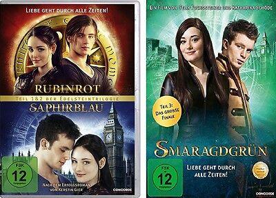 3 DVDs * RUBINROT / SAPHIRBLAU + SMARAGDGRÜN IM SET # NEU OVP $