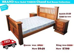 Brand New Solid Timber Bedframes and  Bedroom Packages