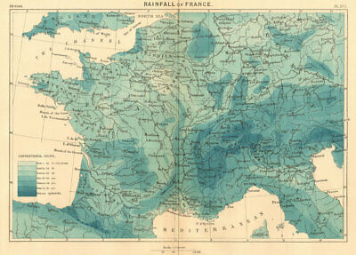 Map of the Alps Europe 1886 old antique vintage plan chart