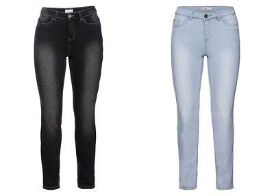 Sheego Damen Skinny Power Stretch Jeans Hose Light Dark Black Blue Denim NEU Denim Light Blue Jeans