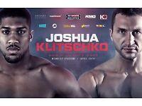 Anthony Joshua vs Wladimir Klitschko (5 X Tickets)