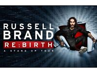1 x Russell Brand ticket, Re:Birth, Wednesday 10th May 2017 New Theatre - Oxford, Oxford