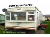 BOOK NOW FOR £25: FIELDS: LYONS ROBIN HOOD, RHYL, N.WALES: SLEEPS 7 MAX, NO-PETS