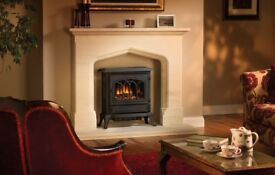 Broseley Canterbury cast iron electric fire