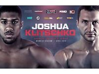 JOSHUA VS KLITSCHKO...3 TICKETS ALL SEATED TOGETHER. LOWER TIER, GREAT SEATS. £900, MAKE AN OFFER!!!