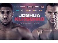 Pair of Anthony Joshua Vs Wladimir Klitschko tickets