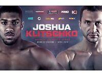 1 ticket for Joshua v Klitschko on Sat 29th April for £150