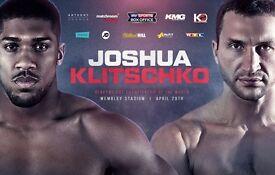 VIP hospitality Tickets Anthony Joshua vs Wladimir Klitschko Boxing 29 April Wembley