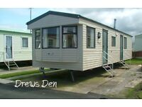 Beautiful 3-bed, 6-berth, dog-friendly, static caravan 4 holiday lets at Golden Gate, Towyn, N.Wales