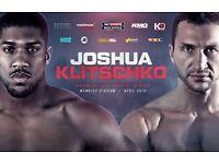 Anthony Joshua vs wladimir klitschko tickets