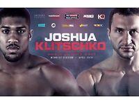 1 floor ticket for Anthony Joshua v Wladimir Klitschko @ Wembley Stadium