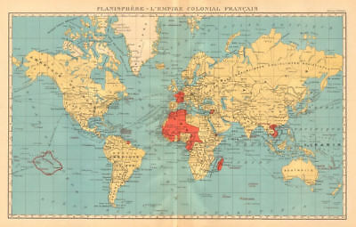FRENCH EMPIRE Colonial Français. French West/Equatorial Africa &c 1938 old map