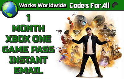 Xbox One 1 Month Game Pass Trial Subscription  Instant Dispatch