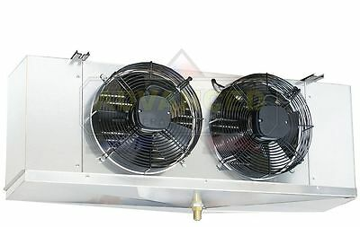 Low Profile Walk-in Cooler Evaporator 2 Fans Blower 10400 Btu 1400 Cfm 115v