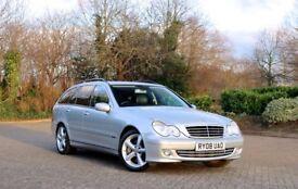 C200 Mercedes estate, 2008, Auto, 1,8l supercharged, Avantgarde, 180 BHP