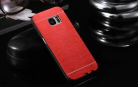New Luxury Ultra-thin Aluminum Metal Brushed Hard PC Back Cover Case for Samsung Galaxy S7 Red