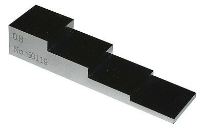 5-level 4 Step Thickness Gage Calibration Block - 0.001 Inch Tolerance - Steel