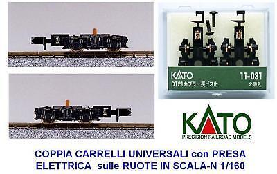 KATO 11-031 Par Carros Par Of Trolleys Con Enchufe Eléctrico Y Ganchos...