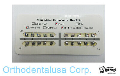 40 Cases Monoblock Mini Roth 0.018 Whook 345 Cardboard Orthodentalusa Corp.