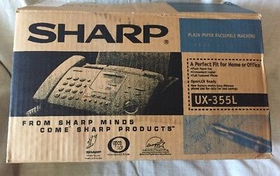Sharp Ux-355l Plain Paper Facsimile Machine New