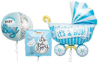 It's a boy Foil Balloons Bouquet for Baby Shower, Gift for Maternity Home (3pc)