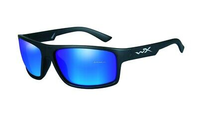 New Authentic Wiley X Sunglasses Peak Blue Mirror Black Frame ACPEA09 (Wiley X Womens Sunglasses)