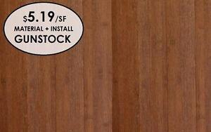 Bamboo Wire brush Hardwood & Installation $5.19 / sq ft