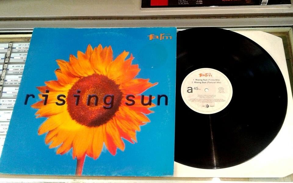 The Farm ‎– Rising Sun, VG 12 inch single released on End Product ‎in 1992 Madchester Indie Britopop