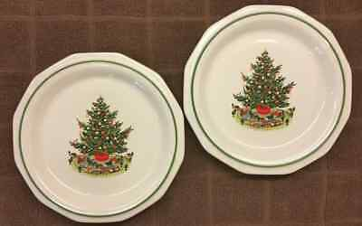 2 NEW! PFALTZGRAFF CHRISTMAS HERITAGE Luncheon Plates 6.5