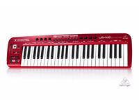 berhinger midi keyboard umx 49 red