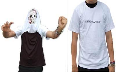 Daumen Hoch Ausgefahrener Erschreckende Serienmörder T-Shirt Umklappen Are - Erschreckende Kostüm