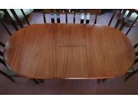 Mahogany Oval table and 6 chairs