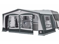 Dorema Caravan awning in Charcoal with lightweight fibre poles- almost new BARGAIN