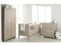 Fontana Room Set - Cot Bed, Dresser & Wardrobe - Brand New