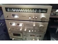 vintage 70s panasonic seperates and records