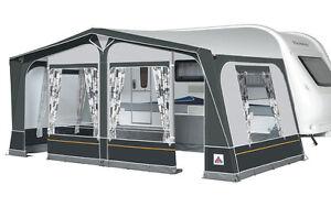 Dorema Daytona Caravan Awning Size 13 - 950-975 Steel Frame Charcoal