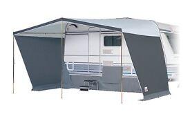 "Dorema ""Solana""Sun Canopy 925-950cm Grey and Quest windbreak both Very good condition hardly used"
