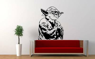 BIG Star Wars Yoda bedroom Quote Wall Stickers Art Room Removable Decals DIY