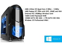 New Gaming Micro Tower Quad Core 3.8Ghz PC with 16GB RAM, SSD and Windows 10 Pro