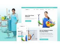 House Cleaning, Windows & Maintenance Service Responsive Website Theme Templates - Installation Free