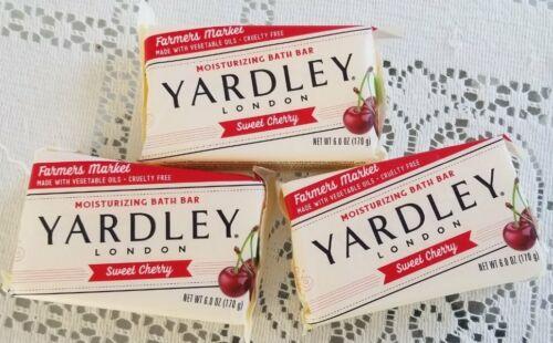 Lot of 3 Yardley London SWEET CHERRY Moisturizing Soap 6 oz