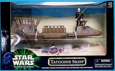 STAR WARS - POTF2 - Tatooine Skiff & Luke Jedi -  selten