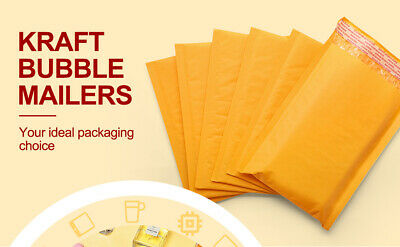 Yellow Kraft Bubble Mailers Padded Envelopes Shipping Size 4x86x10 9x1211 X16