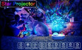 LED Bluetooth Night Light Star Projector Ocean Wave Sky Galaxy - 10 Colours, 12 Brightness Levels