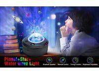 4 in 1 Galaxy Star Ocean Wave Projector Night Light, Bluetooth Speaker + 56 Lighting Modes